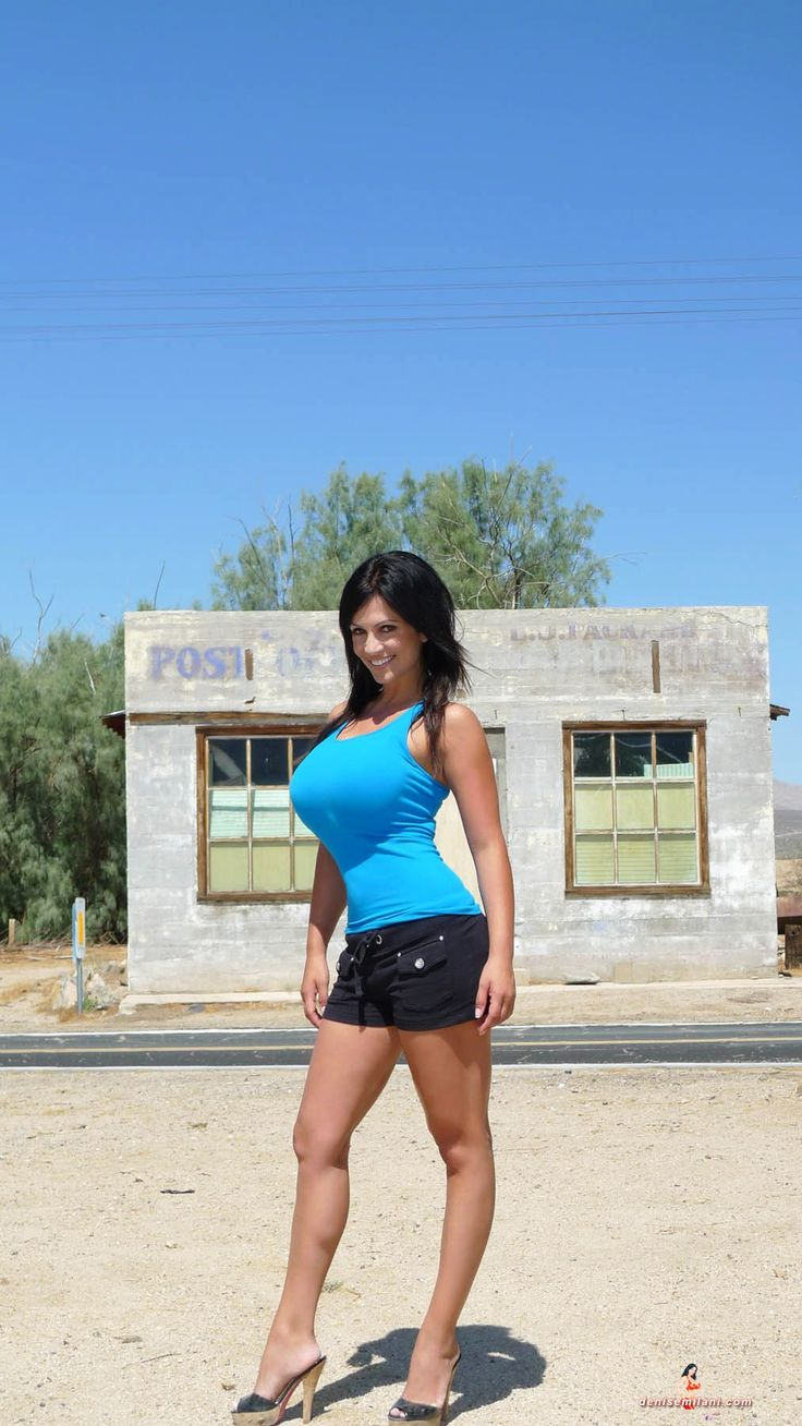 Denise Milani hot in shorts - Page 3