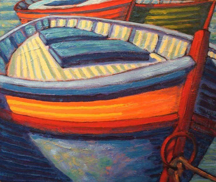 Barques Espagnoles acrylique sur toile   24 x 28po.  2013