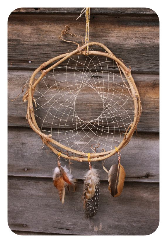 Grapevine Dream Catcher My Tribute to the by CircleofLifeLeather, $30.00