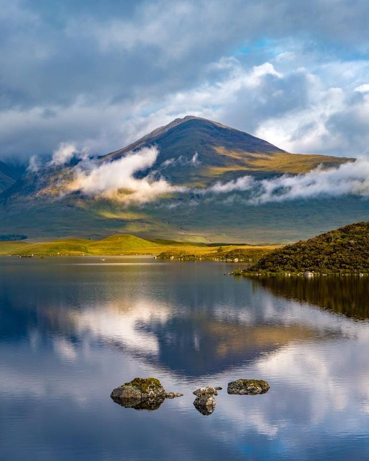 Black Mount in a summer landscape, Scotland
