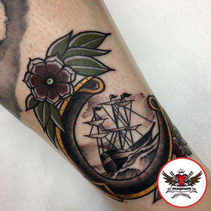 Some traditional piece from Jakegalleon with #magnumtattoosupplies 👌👍  #tattoocommunity #tattooedcommunity #tattooedpeople #tattoosociety #silverbackink #ink #inked #edinburghtattoo #inklife #uktta #tattooculture #blackandgrey #blackandgreytattoo #taot #bnginksociety #besttattoos #skinartmag #studioxiii #tattoosuppliesuk #blackclaw