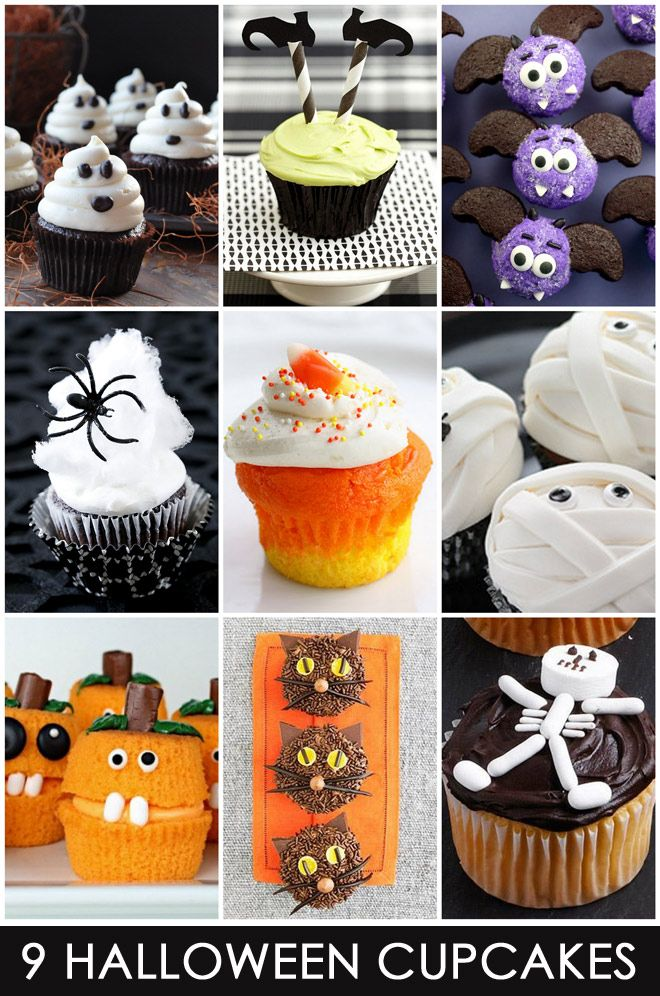 9 easy cute halloween cupcakes