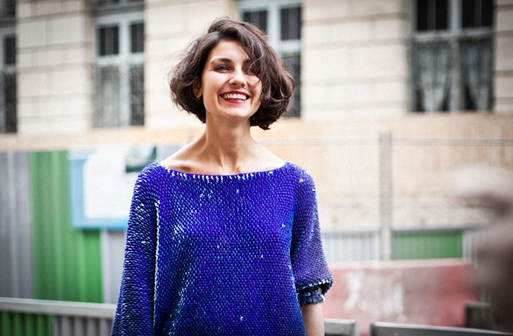Eva Fontanelli looking adorable outside Couvent des Cordeliers