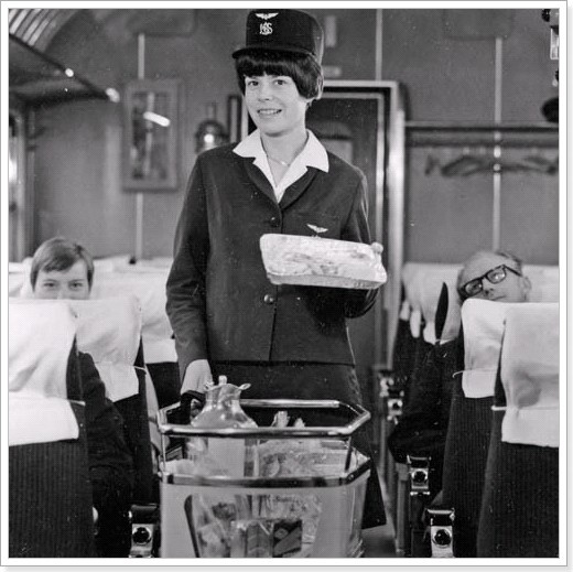 Trillevognservering på 60-tallet / Trolleyservice in the 60's