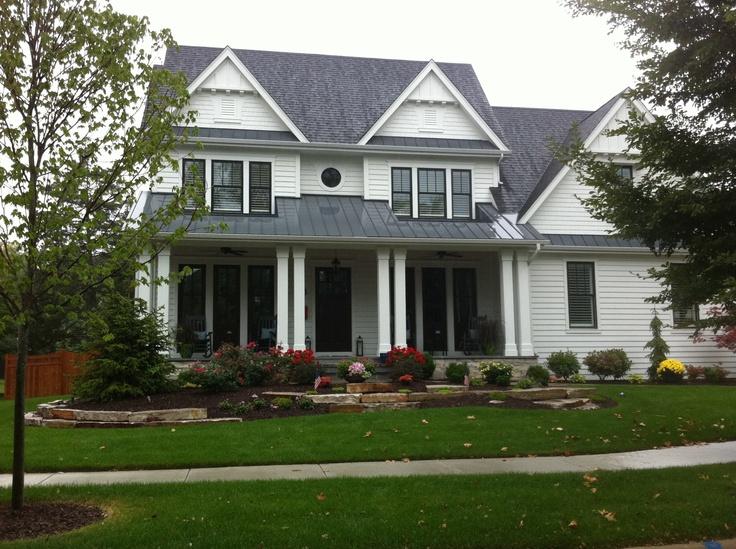 black windows on farmhouse style Farmhouse style