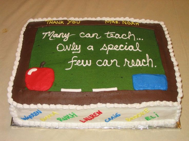 Cake Designs For Teachers : 7 best images about Teacher Cakes on Pinterest ...
