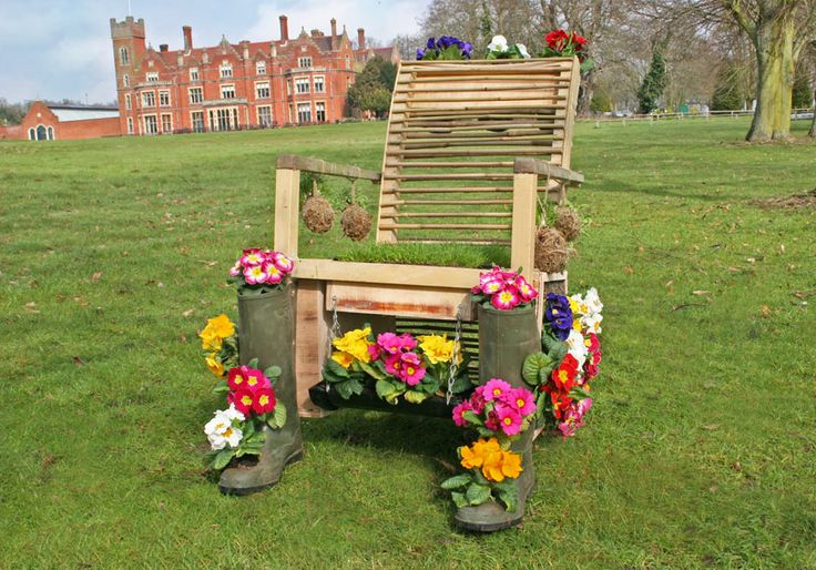This old chair, quite literally was given new life!