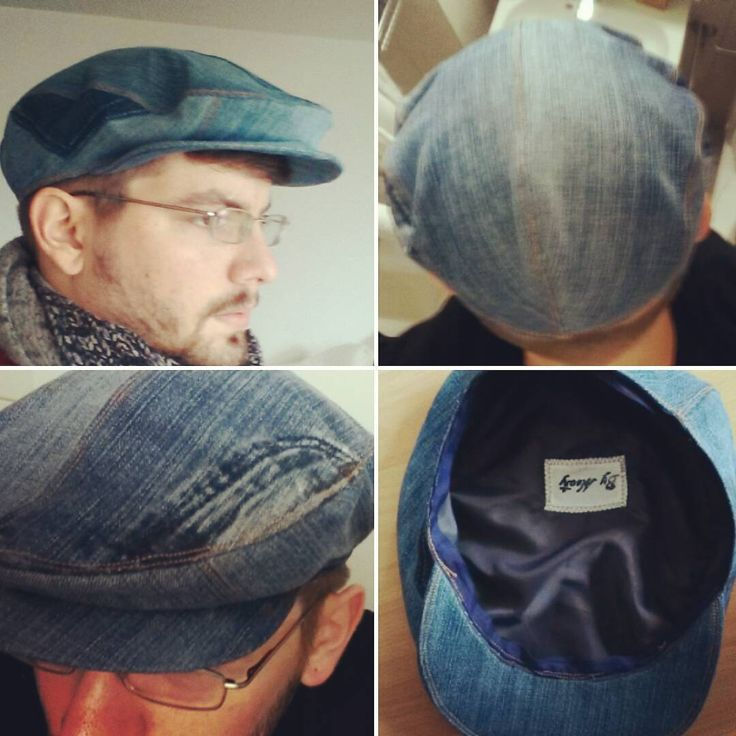 Finished just in time for #therefashioners2016 : driving cap made out of leftovers from my pair of jeans made out of two used pair of jeans (yes it makes sense)  I altered the pattern used for my first cap (the yellow one). Lining and ribbon not extracted from jeans. #jeanius