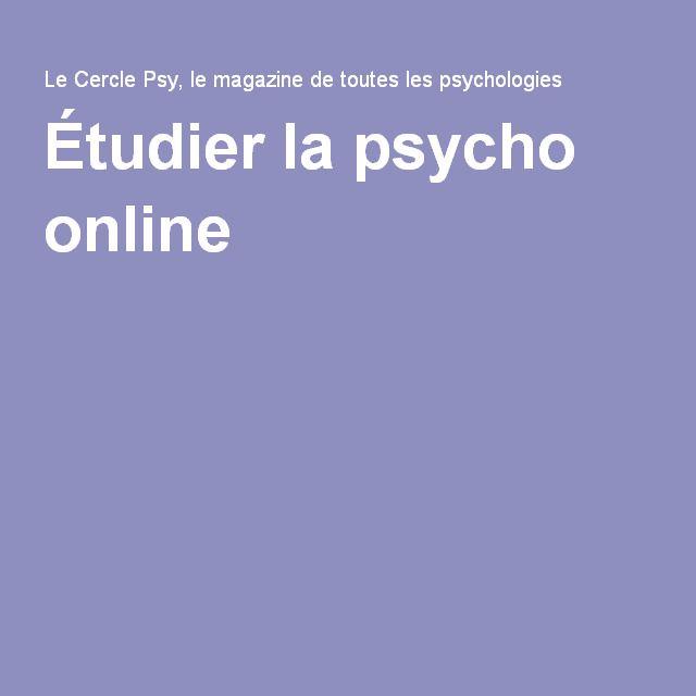 Étudier la psycho online
