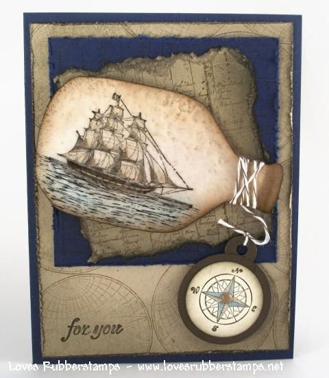 Ship in a bottle ... clever.