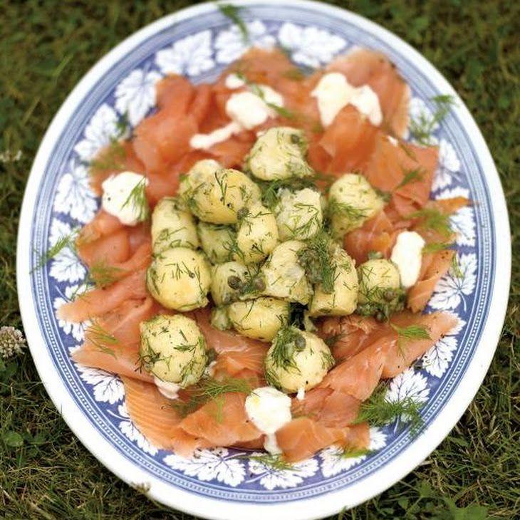 Potato Salad With Smoked Salmon & Horseradish Crème Fraiche Recipe