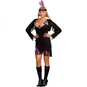 Naughty Native Plus Size Costume - womensplussizecostumes.org