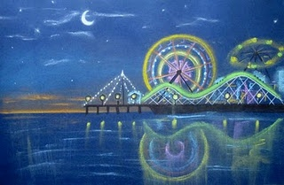 make and take...ferris wheel at night: Night Chalk, Art Idea, Google Search, Pastel Ferris, Ferris Wheels, Pastel Drawings, Chalk Pastel, Art Projects, Creator Joy