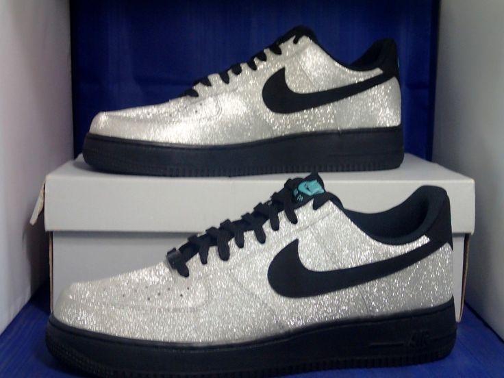 Nike Air Force 1 High Metallic Silver Hyper Blue
