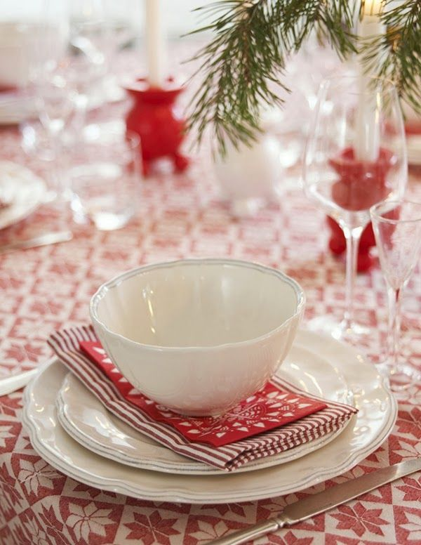 scandinavian christmas table setting Scandinavian Christmas Dining hand made stuff