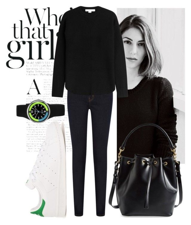 """black"" by dzihan on Polyvore featuring Oasis, Alexander Wang, adidas Originals, Armitron and Yves Saint Laurent"