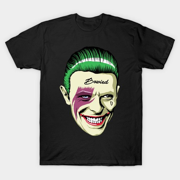 Rock'n'Roll Suicide Bowied T-Shirt - Joker T-Shirt is $14 today at TeePublic!