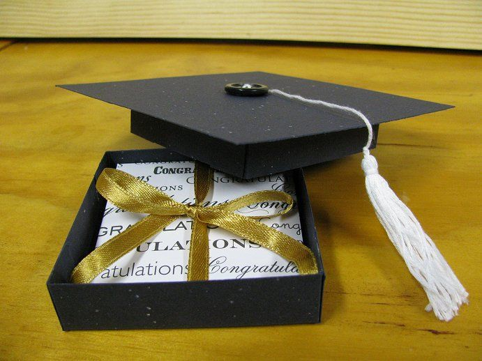 Graduation Hat Gift Box by ixfquiller - Cards and Paper Crafts at Splitcoaststam