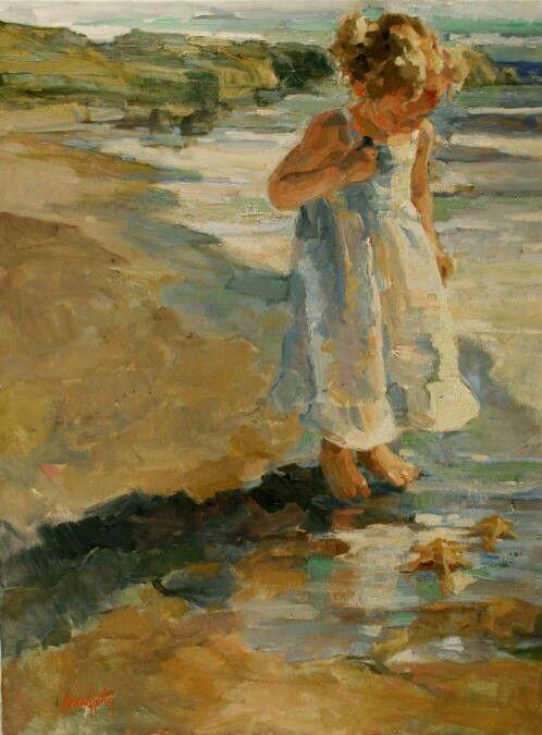 Little girl on beach