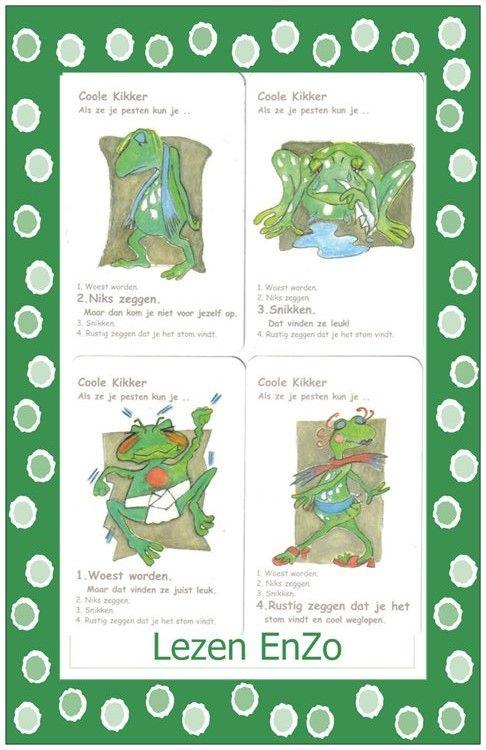 Coole kikker  kwartet uitgewerkt voor Lezen EnZo Coole kikker.