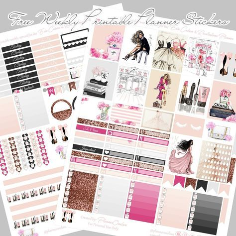 Free Printable Fashion Planner Stickers for the Erin Condren & Recollections Planner Planner Onelove
