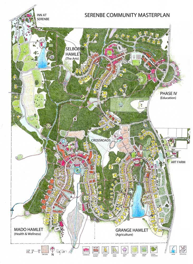 Serenbe Map - utopia food independent social neighbourhood