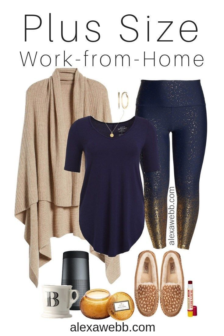 Plus Size Work-From-Home Outfit - Plus Size Casual Outfit Idea - Plus Size  Glitter Leggings - Plus Size Fashion for Women - alexawebb.com  plussize    ... 74f25c61d322