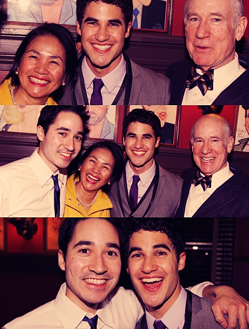 """""""To Money, the Amazing Mumfred, and Charles, who have always made his life a beautiful Broadway show of its own."""" #DarrenCriss in the playbill of """"How to Succeed"""""""