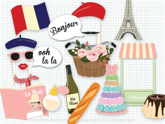 Paris Photo Booth Props, Photobooth Props, Paris Party, French, Paris Baby Shower, Paris Bridal Shower, Bastille Day, Ooh la la, Tres Chic