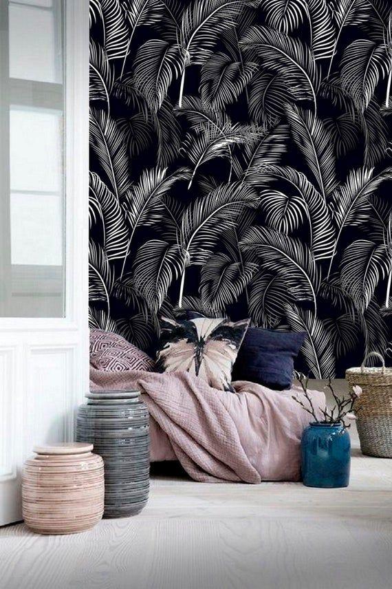 Wall Paper Palm Leaf Wallpaper Wall Mural Removable Wallpaper Tropical Botanical Wallpaper Peel Stick Self Adhesive Wallpaper Jungle 24 In 2021 Wall Wallpaper Tropical Wall Decor Diy Wall Painting