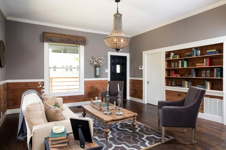 Decorating with shiplap ideas from hgtv 39 s fixer upper for Upper living room designs