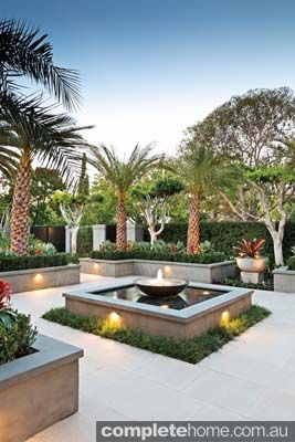 formal water feature in tropical