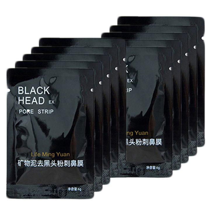 10 unids/pack Minerales Naturales de Nariz de La Cara Cuidado de La Piel Eliminación de La Cabeza Negro Máscara de Limpieza Profunda Facial del Poro de Gaza Limpiador Belleza Producto