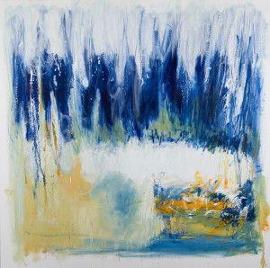 "cascade 30"" x 30"" oil on canvas $1125 (framed) by Marlene Lowden"