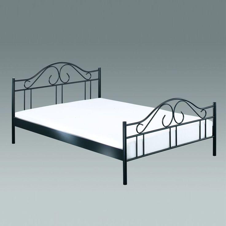 metallbett 140 200 silber. Black Bedroom Furniture Sets. Home Design Ideas