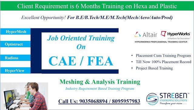 Streben Engineering Solution Job Oriented Training On Cae Fea