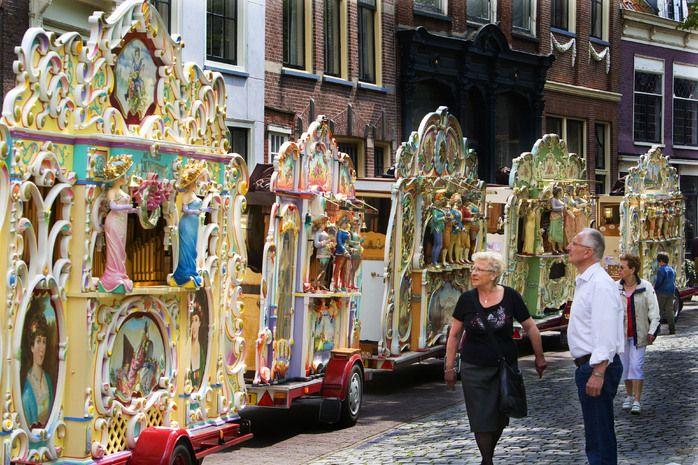 Een rij van orgels