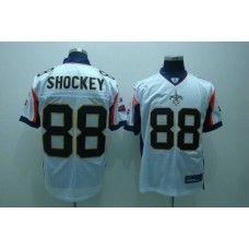 Saints #88 Jeremy Shockey White With New Super Bowl Patch Stitched NFL Jersey