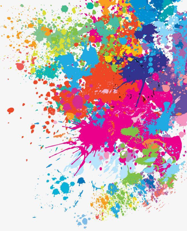 Vector Splash Pattern Watercolor Splash Colorful Png