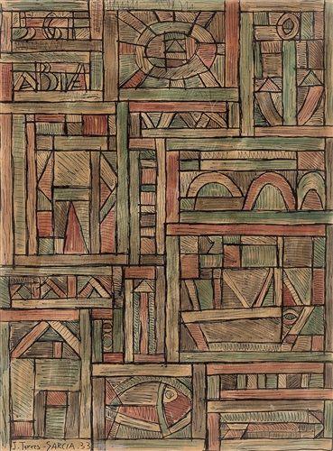 Torres García Composición, 1933