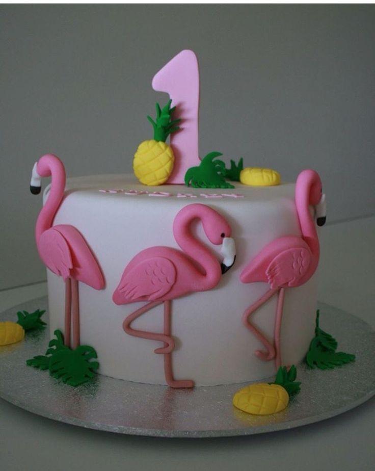 Flamingo Party Birthday Cake