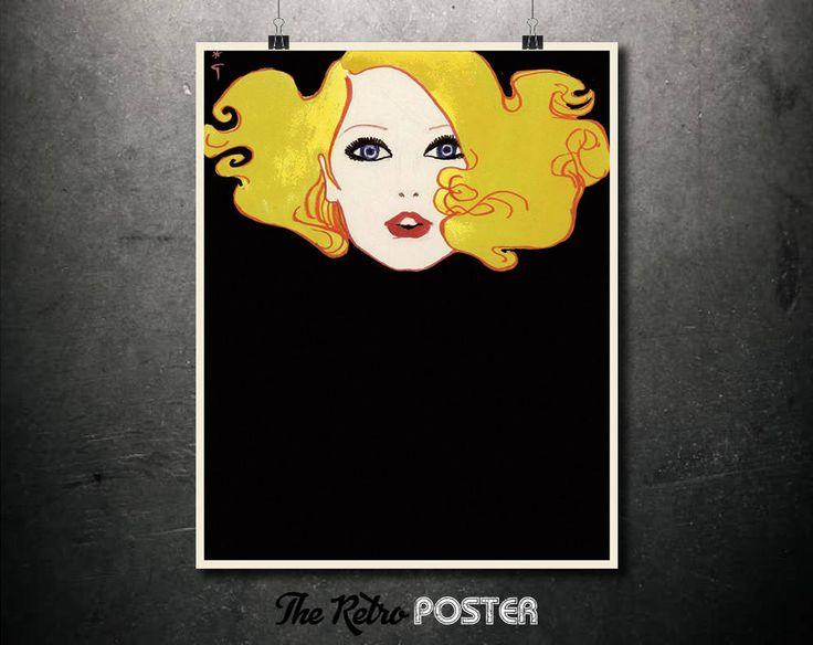 Betty Annees - René Gruau, 1980 - Fashion, Fashion Illustration, Fashion Print, Fashion Poster, Vogue Print, Gift Woman, Fashion Art by TheRetroPoster on Etsy