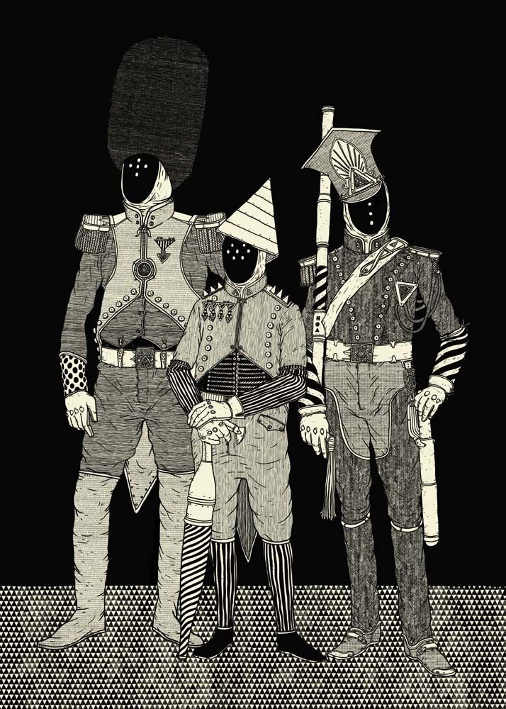 One of the two large illustrations made for the ArtWurst exhibition (May, 2011), which was also featured in Depthcore's Obsolete chapter: http://depthcore.com/chapter/obsolete/4761/