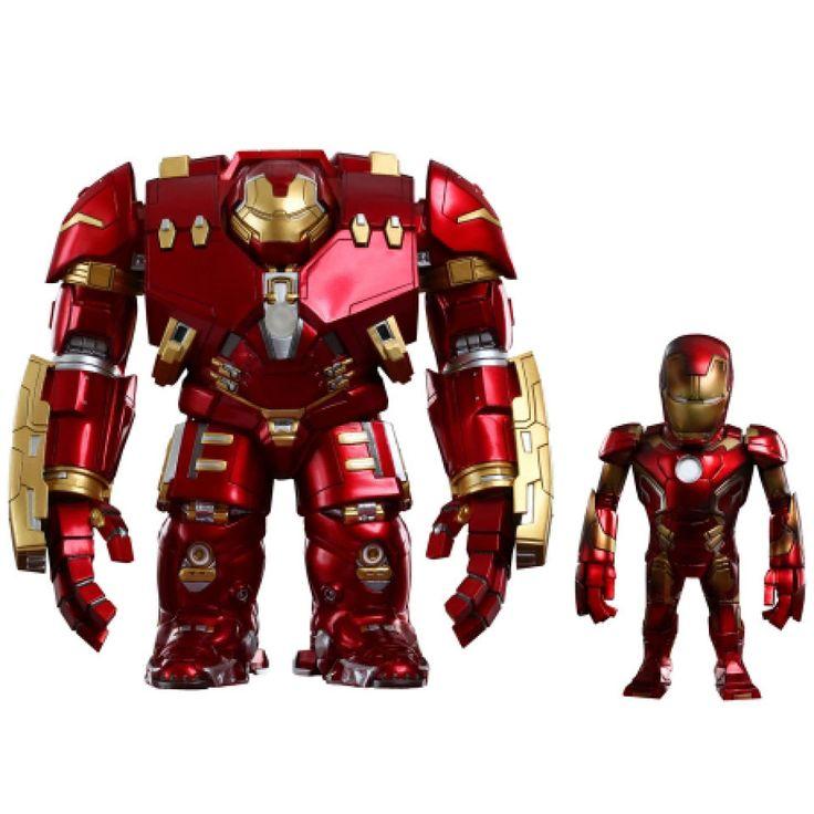 Avengers Age of Ultron Artist Mix Wackelkopf Figuren Hulkbuster Battle Damaged Iron Man #Avengers #IronMan