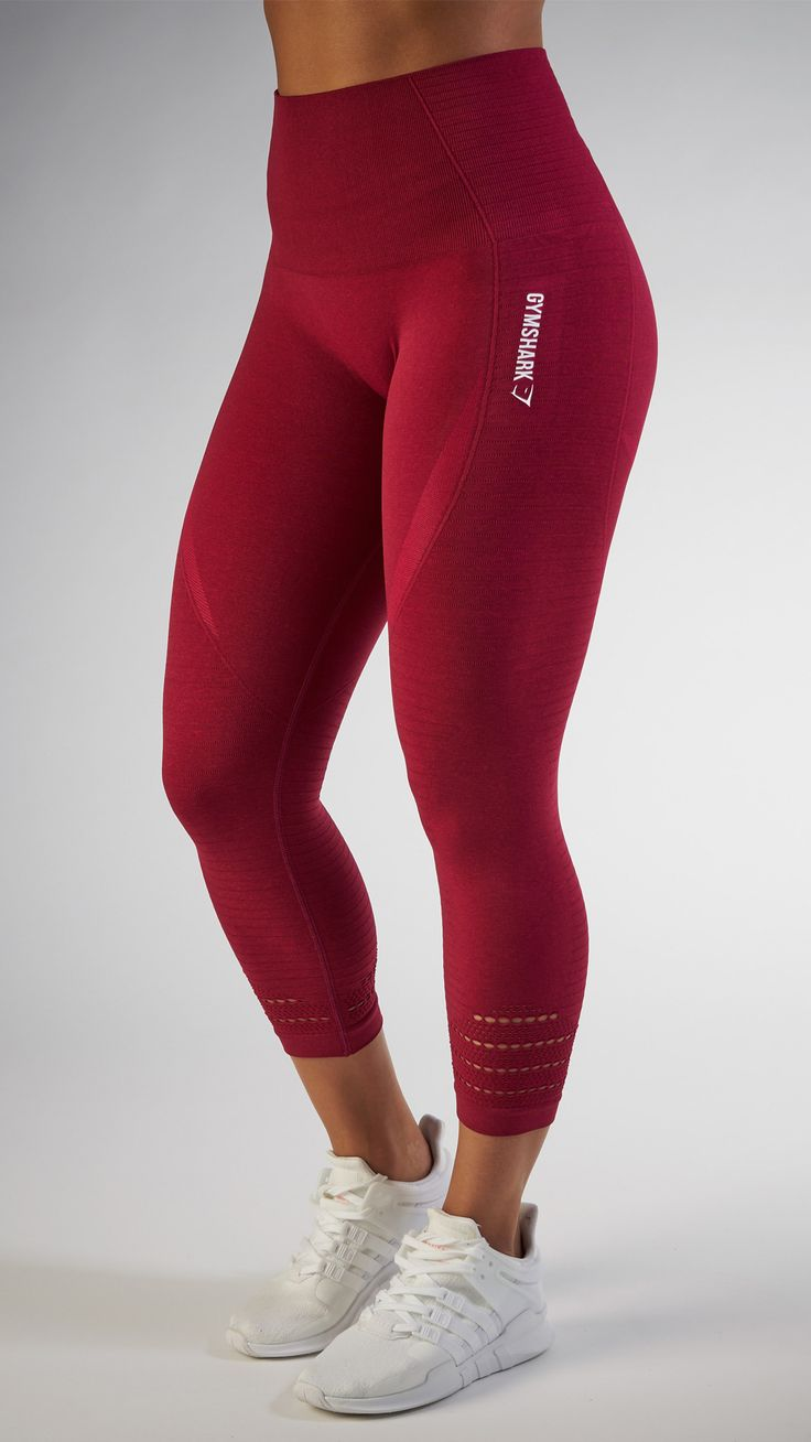 With their stunning and form fitting shape, the Seamless High Waisted Cropped leggings in Beet are beautifully different.