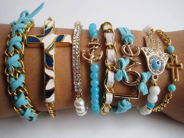 Mar Accesorios I found 'Set pulseras infinito azul' on Wish, check it out!