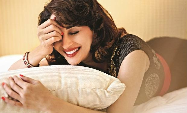 """The best thing that happened to me is that I was born a woman. That alone allows me to feel so much, to love so deeply and to give so much back to life."" – Madhuri Dixit"