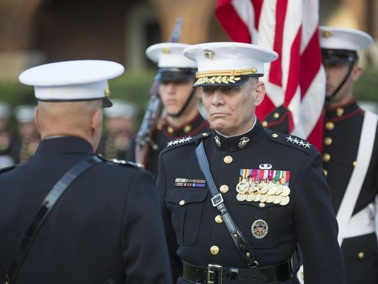 """{    MARINE GEN. JOHN PAXTON, ASSISTANT COMMANDANT, RETIRES AFTER 42 YEARS IN UNIFORM    }   #MarineCorpsTimes .... """"Leaders look back on Gen. John Paxton's career as the ACMC retires from the Marine Corps. Here's what one sergeant major had to say about the general: """"I would follow him through the gates of hell with gasoline skivvies. Absolutely.""""…"""