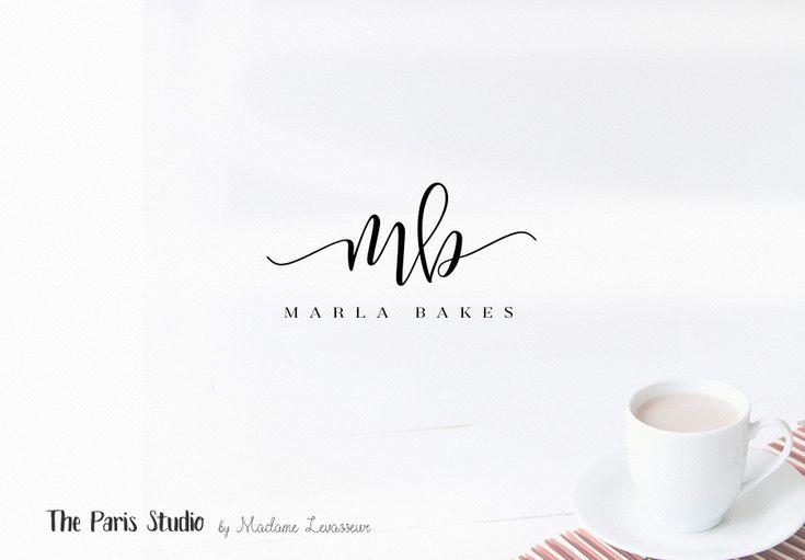 Hand Drawn Style Cupcake Bakery & Blog Logo Design for bakery logo, blog logo, boutique logo, restaurant logo, creative business branding or small business logo. Pre-made #LogoDesign #WordPress Website Blog Logo #Etsy Shop Logo #squarespace #branding