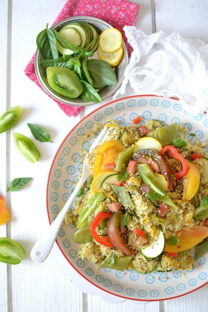 Salade de semoule aux légumes d'été, sésame et menthe http://www.lesrecettesdejuliette.fr